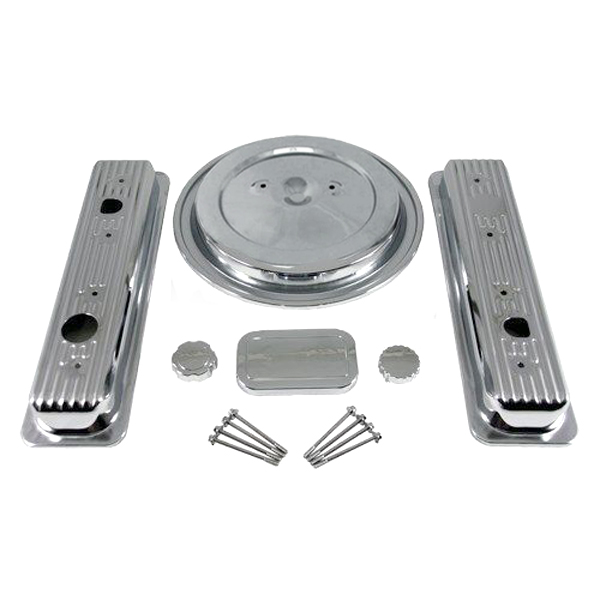 354 - PBM Performance - SBC V-8 Truck Chrome Engine Dress-Up Kit - (1993-95 w/Dual Wing Nut Air Cleaner Top)
