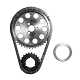 "8981 - PBM Performance - Tmg Set Performance - Double Roller .250"" chain, steel cam with bearing, steel crank with 9 keys - Billet Timing Set Chevy V-8 283-400 - w/Thrust Washer"