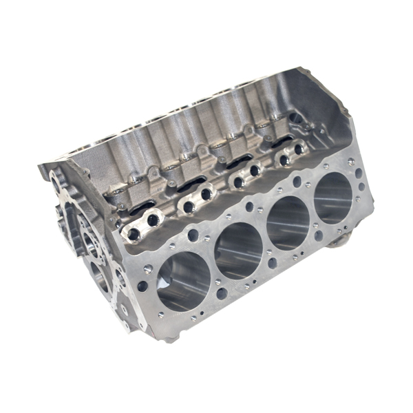 018100 - World Products - 8.1 Liter Replacement Block - 10.240 Deck, 4.245 Bore, Nodular Caps, Std. Cam, Std. Lifters 1 Piece Rear Seal